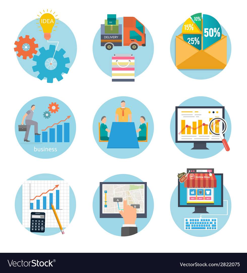Business start infographic template vector image