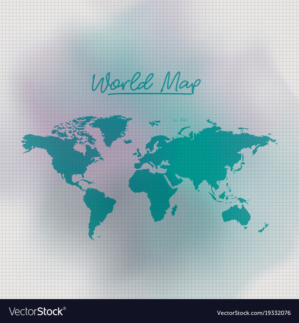 World map in green color and grid background white world map in green color and grid background white vector image gumiabroncs Choice Image