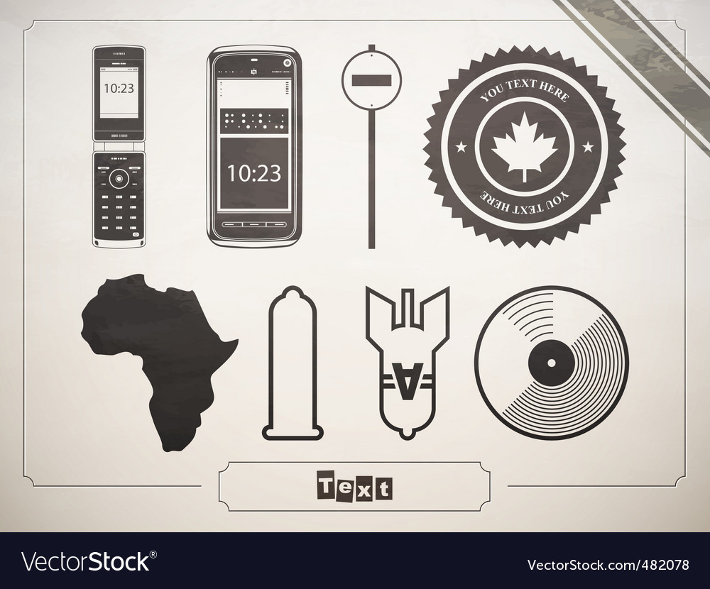 Signs and icons vector image
