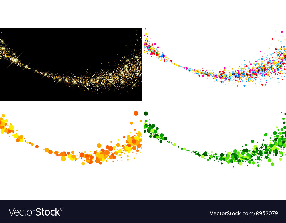 Backgrounds with color drops vector image