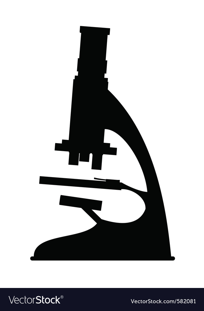 Science microscope vector image