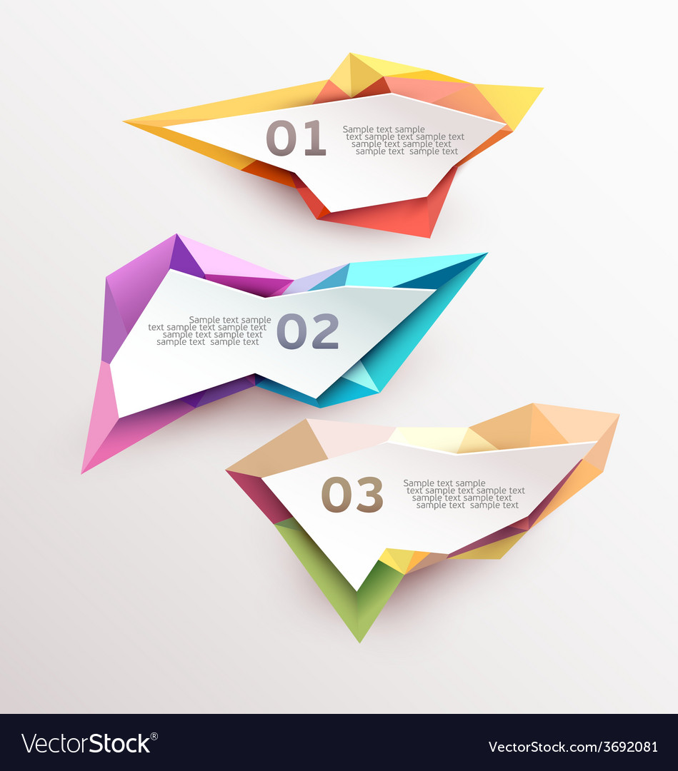 Set abstract banners vector image