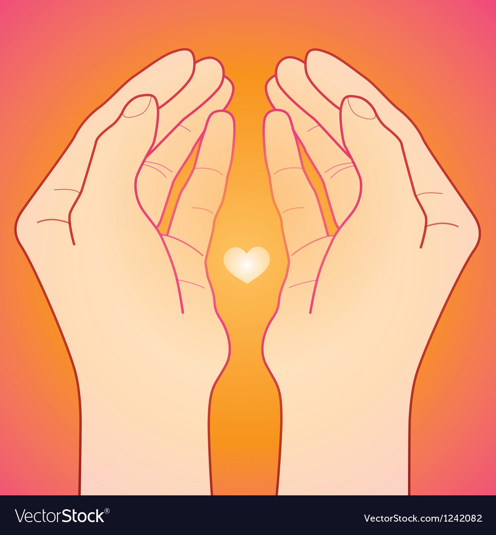 Love and care concept vector image
