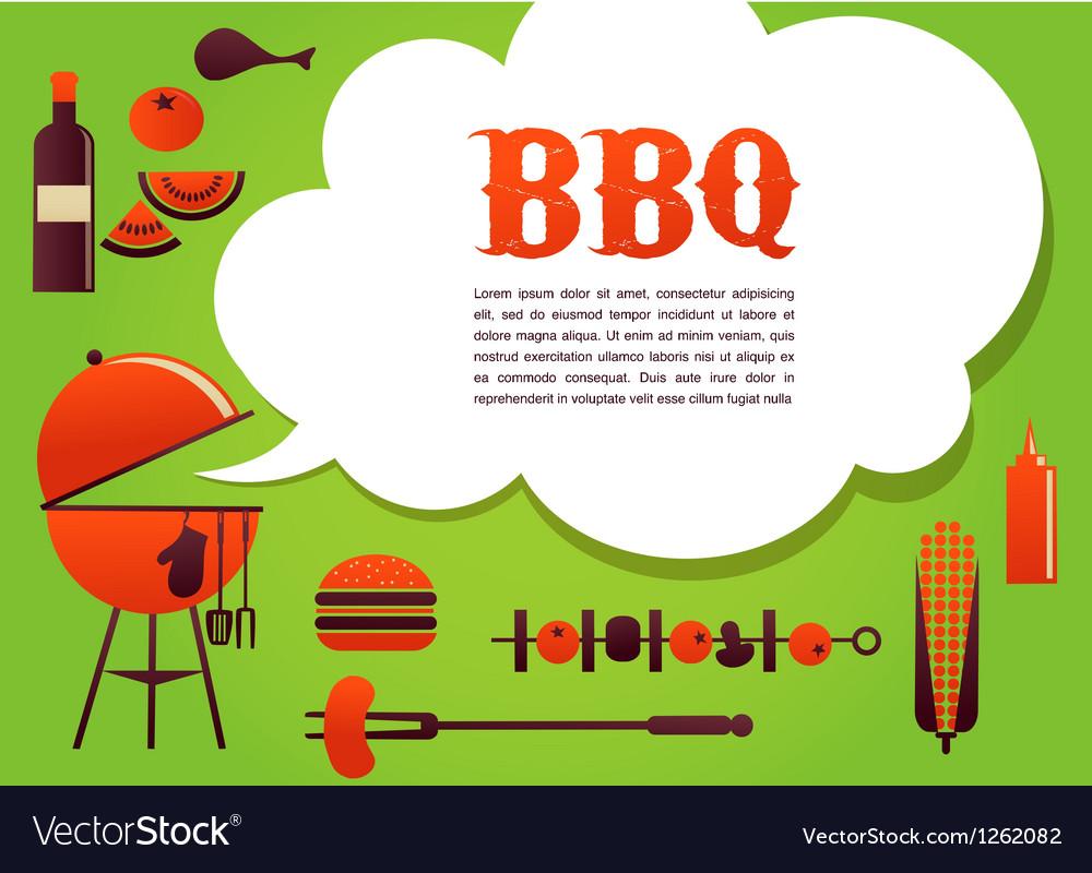 BBQ vector image