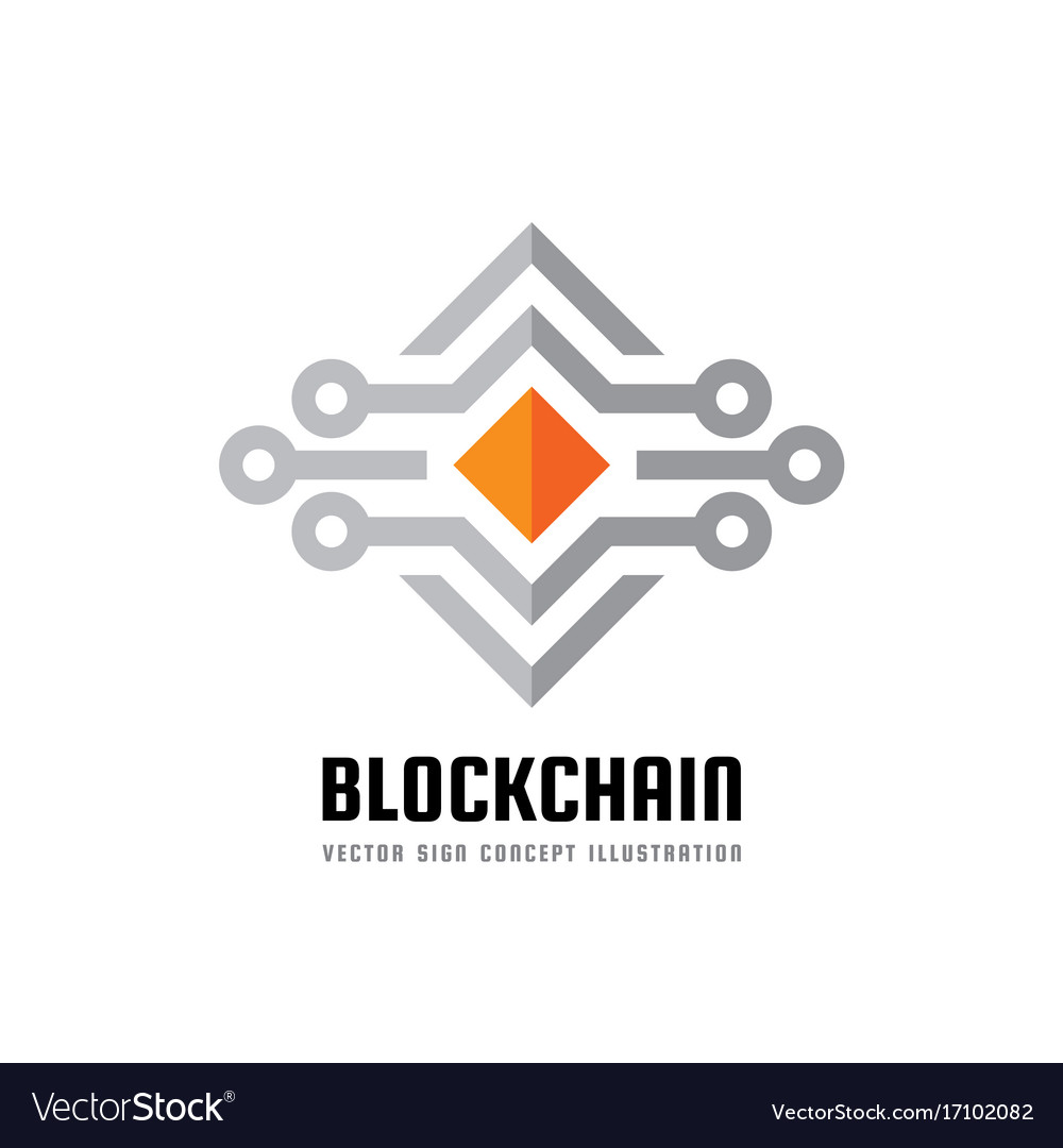 Blockchain technology logo template royalty free vector blockchain technology logo template vector image pronofoot35fo Choice Image