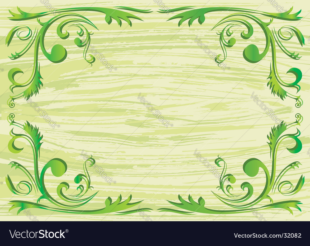 Plant frame vector image