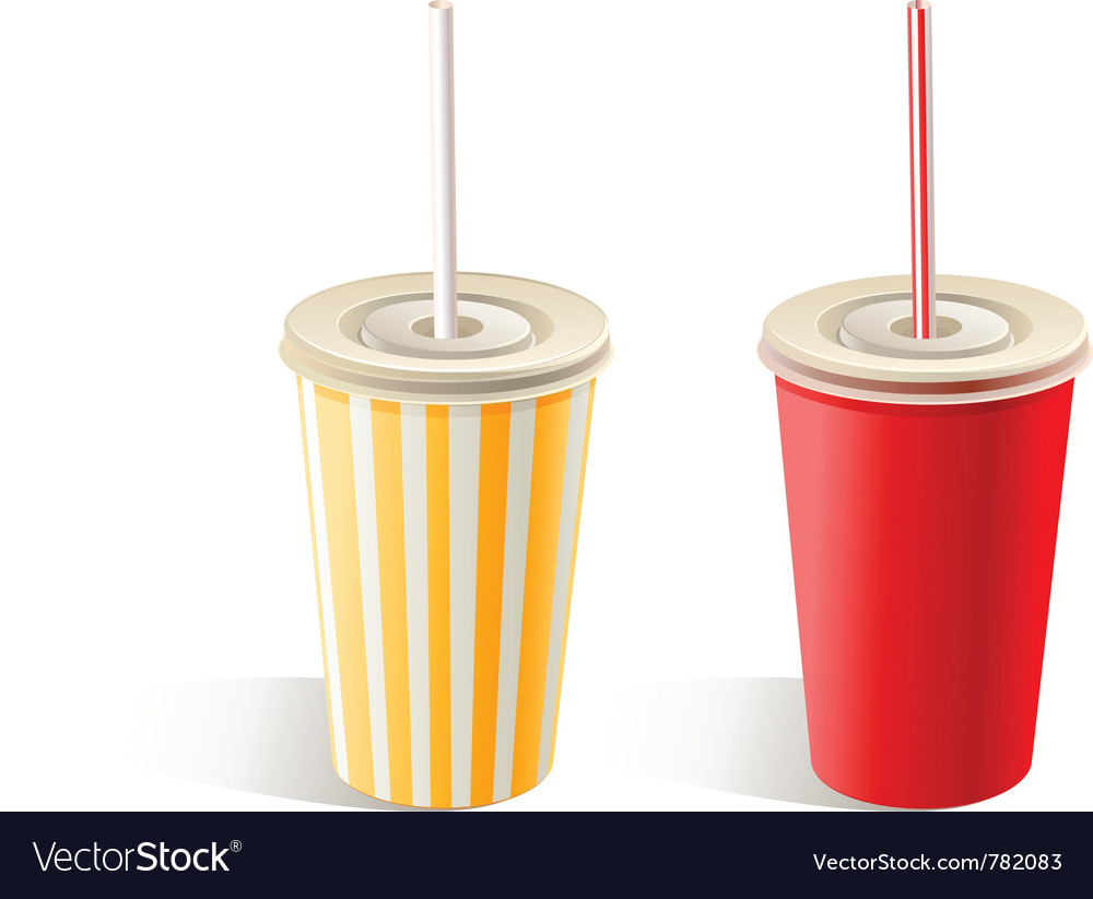 fast food paper cups vector image by bienchen image  fast food paper cups vector image