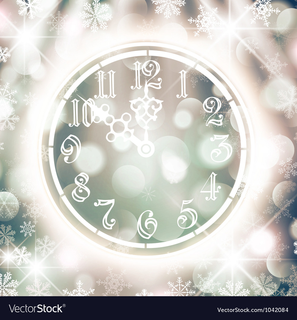 New Year Watch vector image