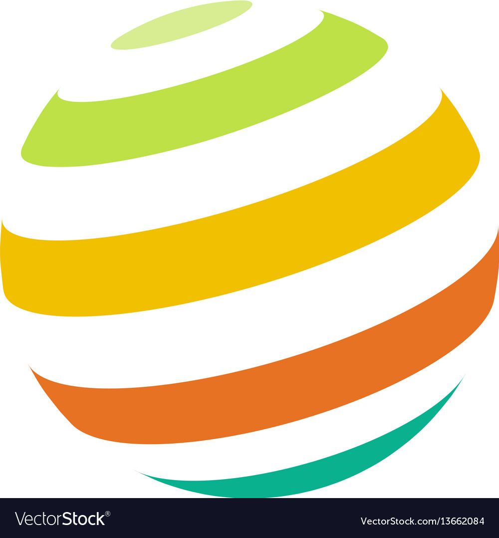 Abstract colorful sphere logo vector image