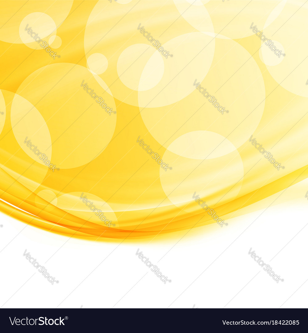 Bright modern abstract orange swoosh border vector image