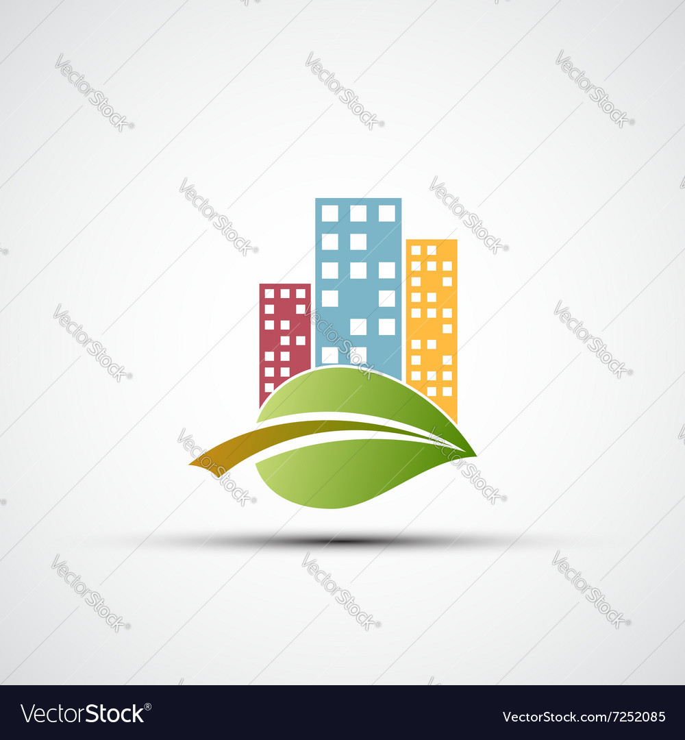 Ecological real estate vector image