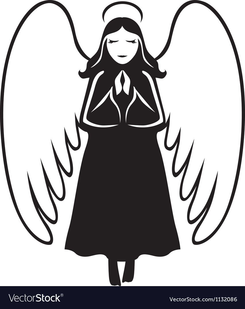 Angel praying vector image