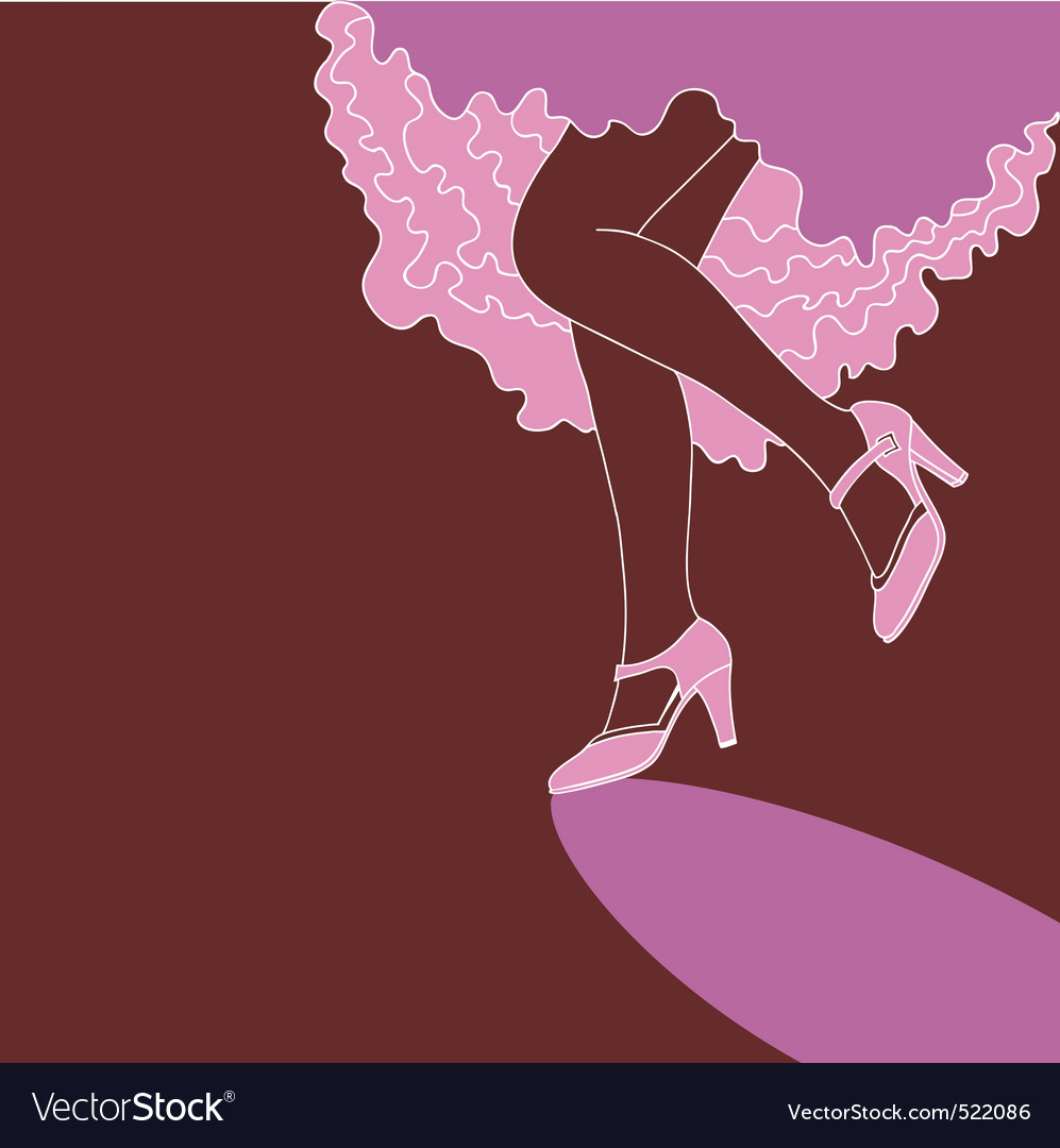 Dancing lady vector image