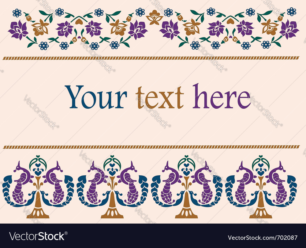 Flower decorative patterns indian style vector image