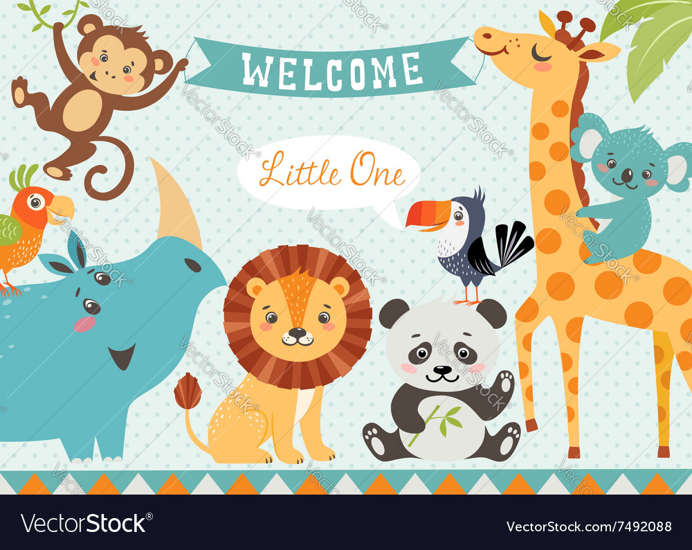 Welcome baby Royalty Free Vector Image - VectorStock
