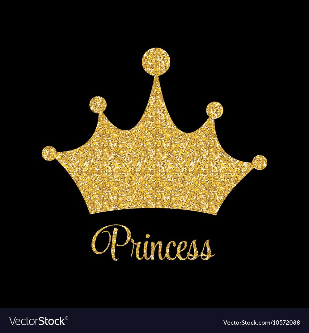 Gold Princess Crown Vector