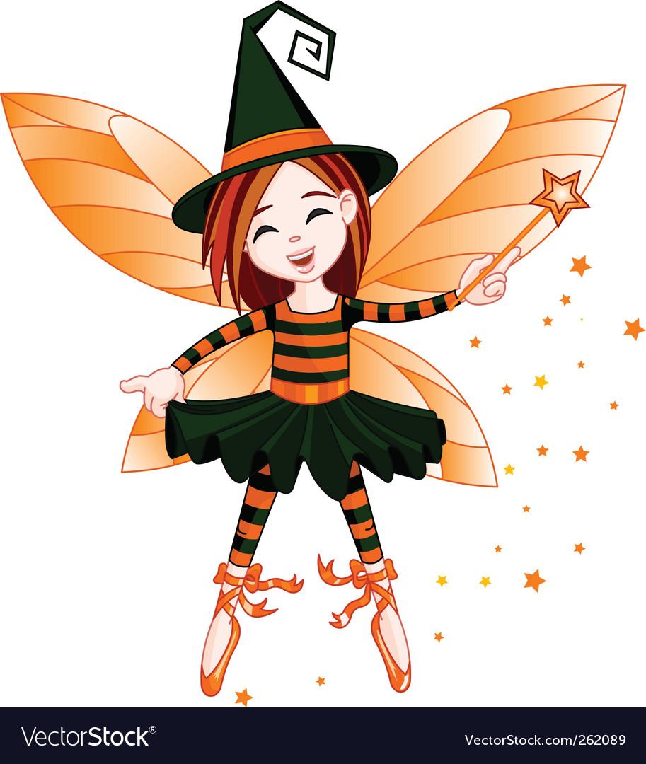 halloween cute fairy royalty free vector image