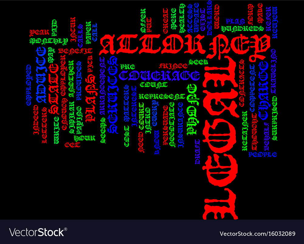Legal plans an intro text background word cloud vector image