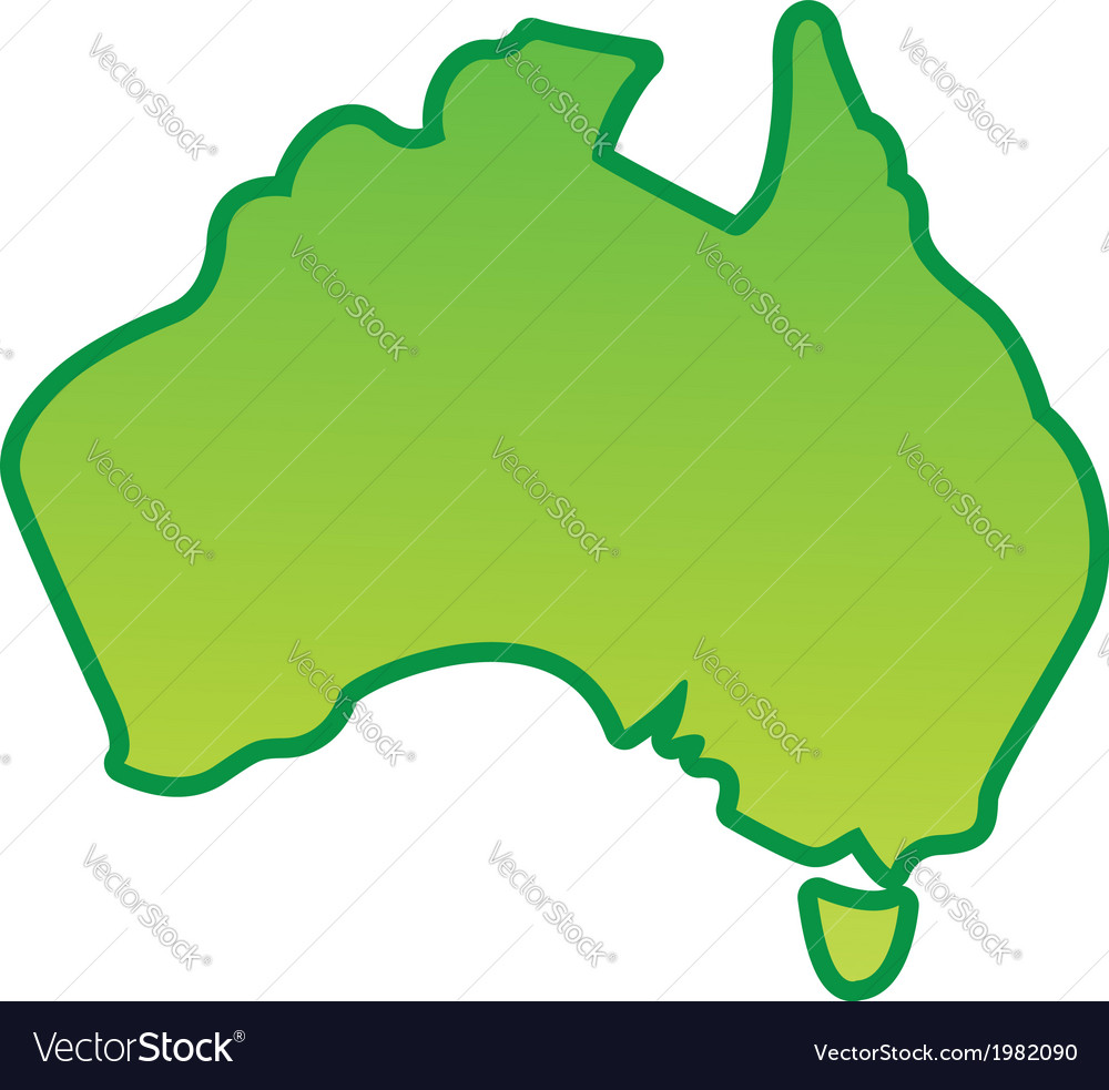 Australia map simplified Royalty Free Vector Image