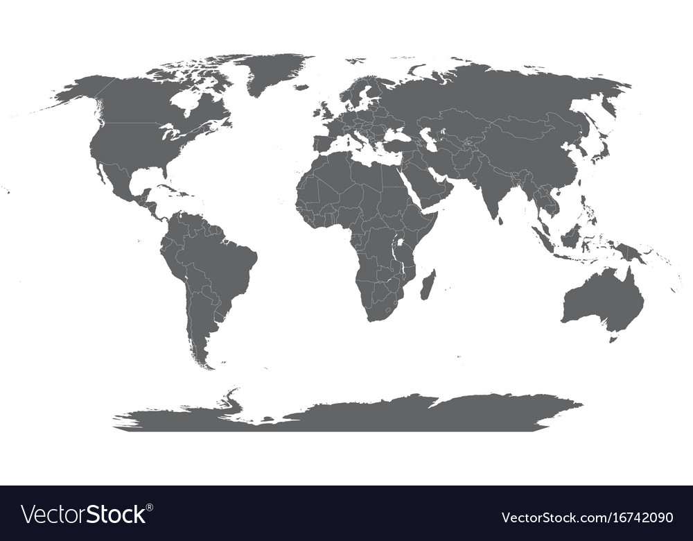 Map Of The World Robinson Projection Royalty Free Vector - Vector map of world