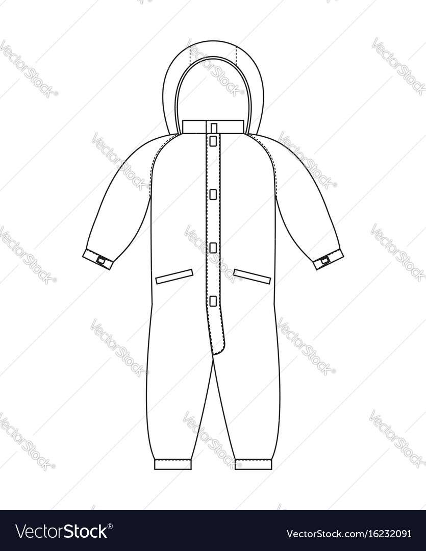 Rompers template scheme childrens clothing line vector image