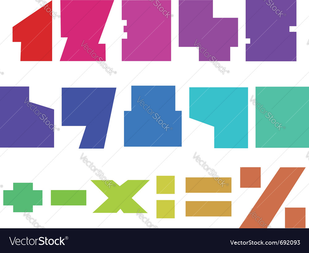 Square numbers vector image