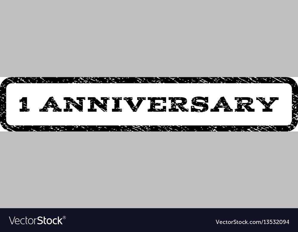 1 anniversary watermark stamp vector image