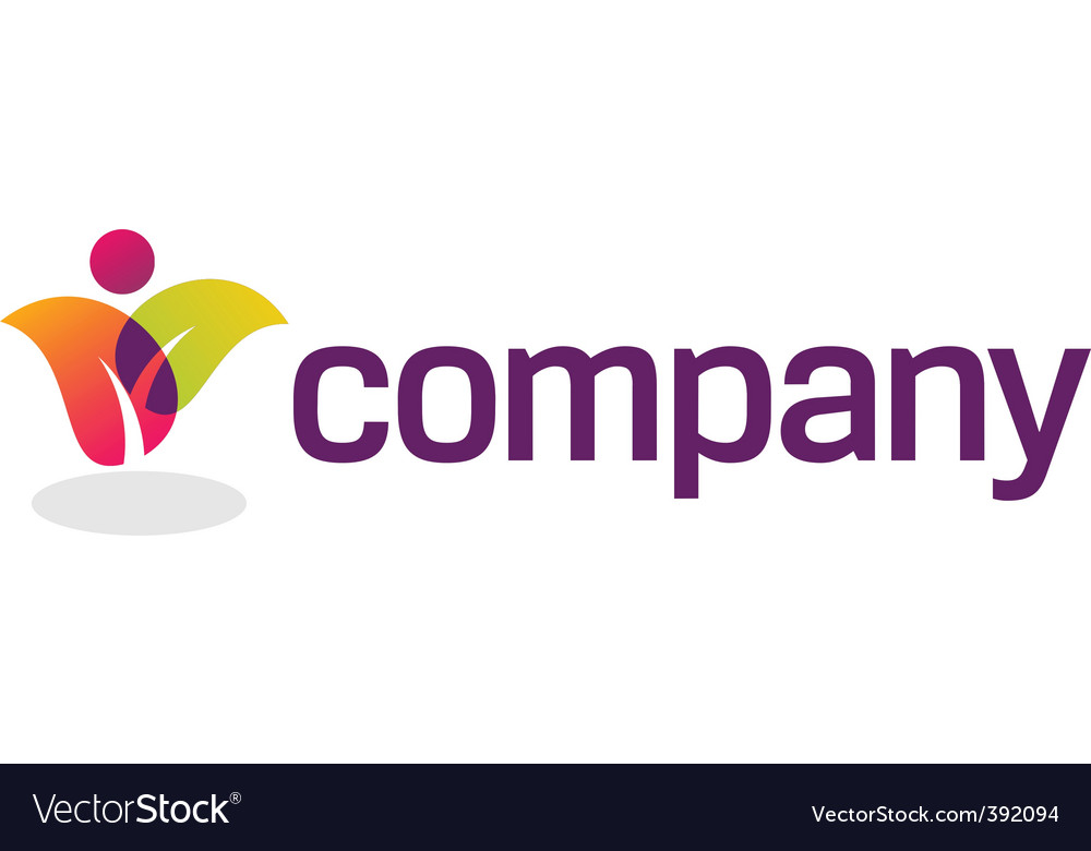 Colorful leaves logo vector image