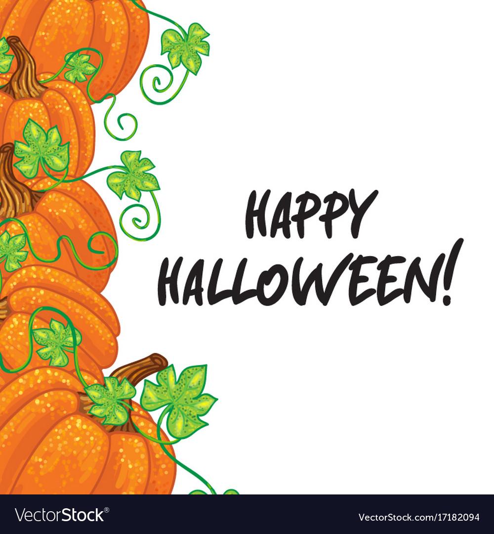 Halloween background frame vector image