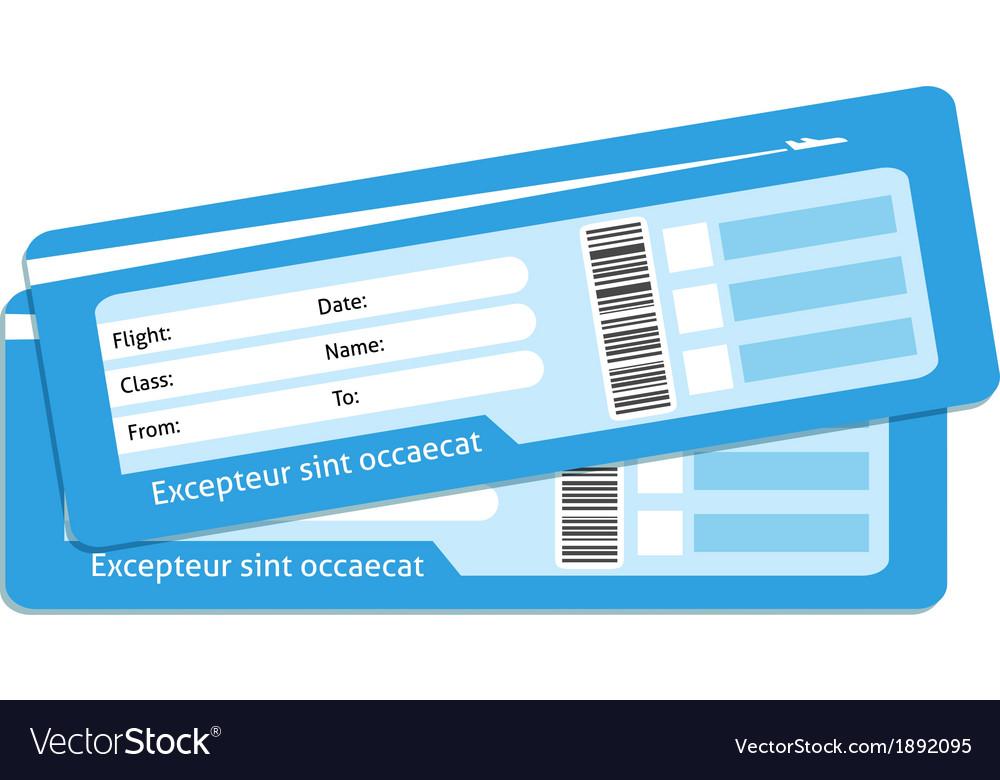 Blank plane tickets vector image