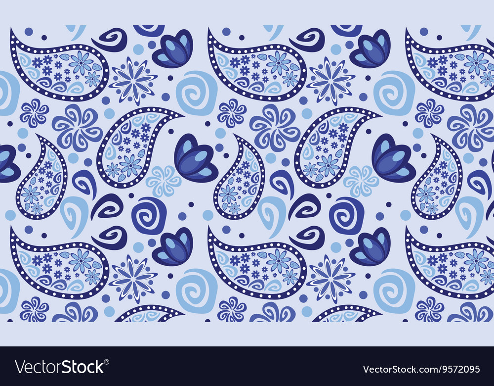 Blue background cucumbers seamless vector image