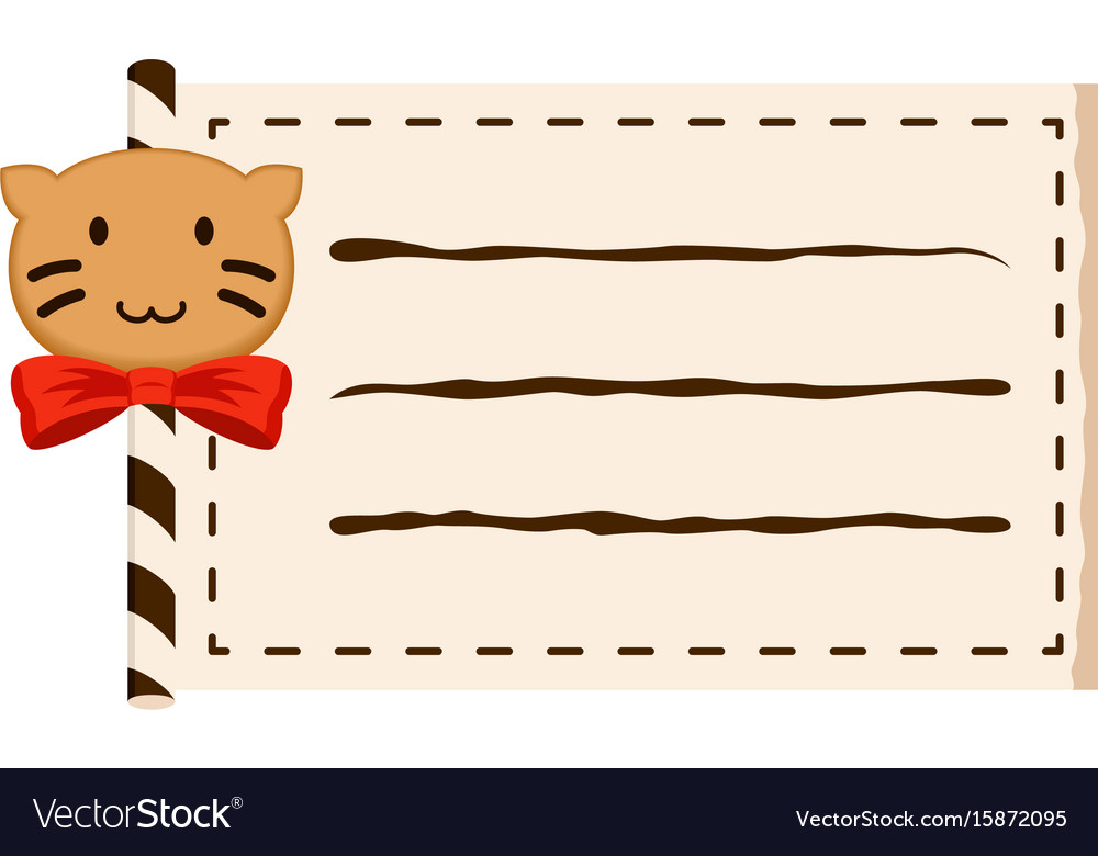 Cat paper roll copy-space vector image