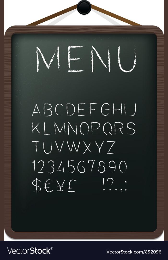 Cafe menu board vector image