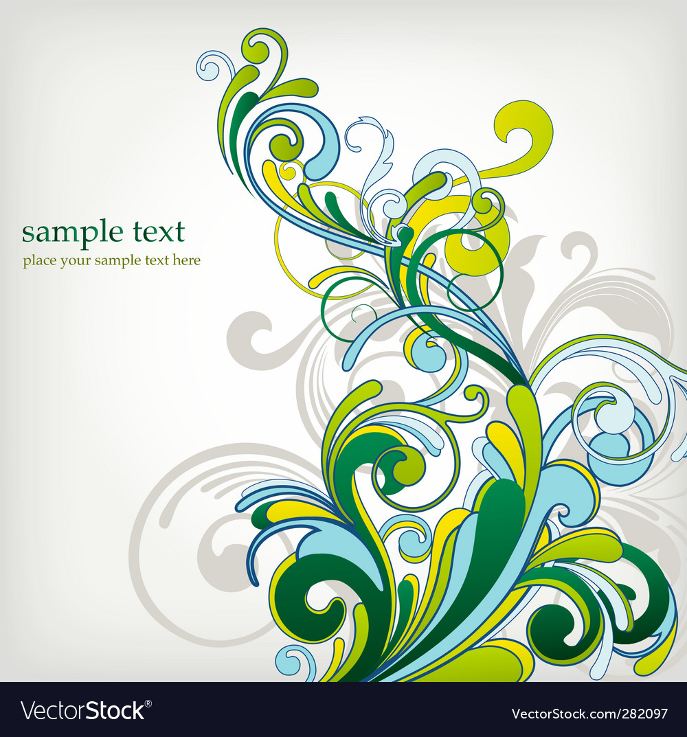 Green floral design vector graphic free vector graphics all free - Floral Design Background Vector Image