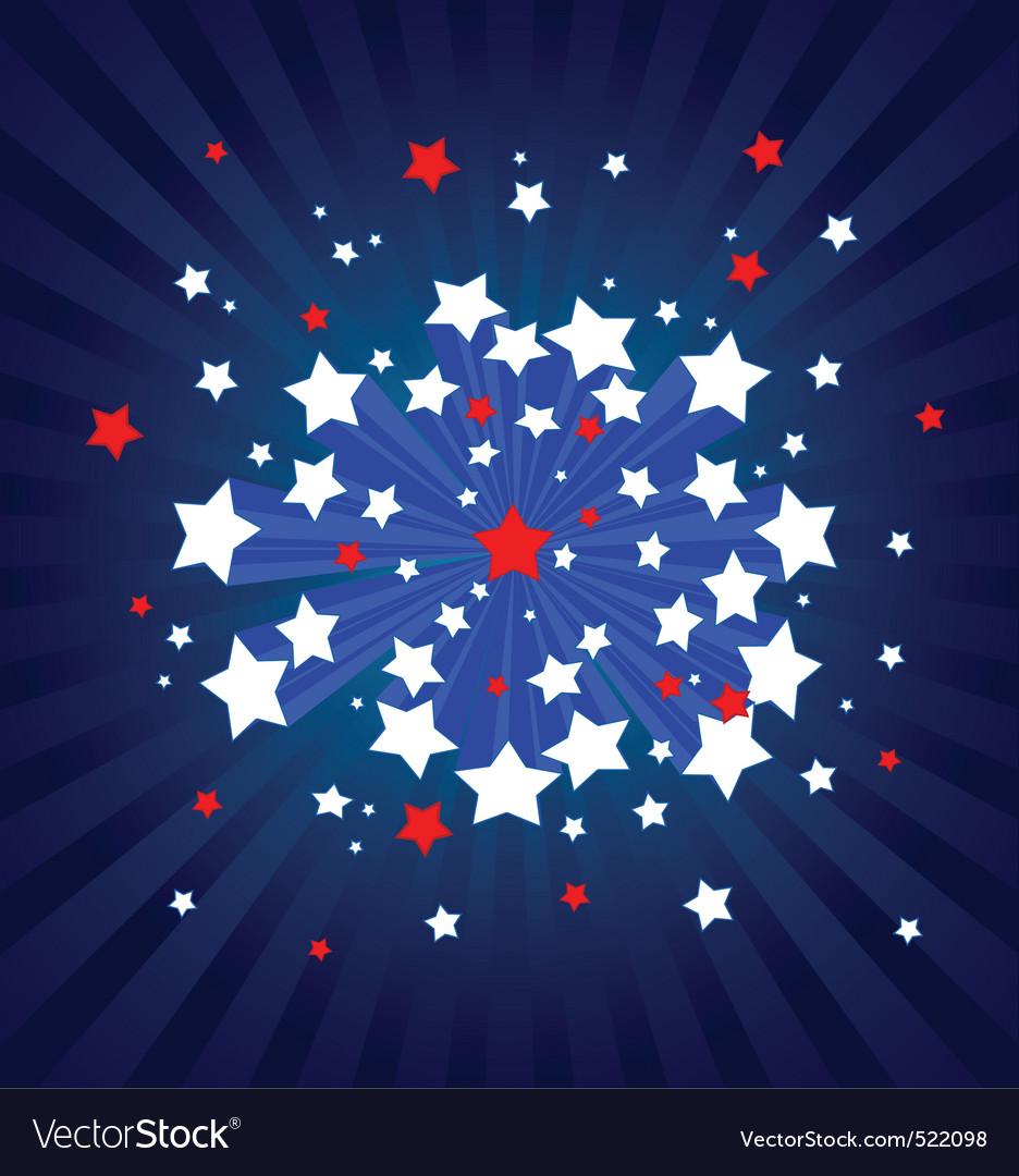 American starburst background vector image