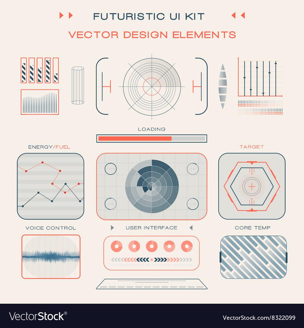 UI flat design web elements template set interface vector image
