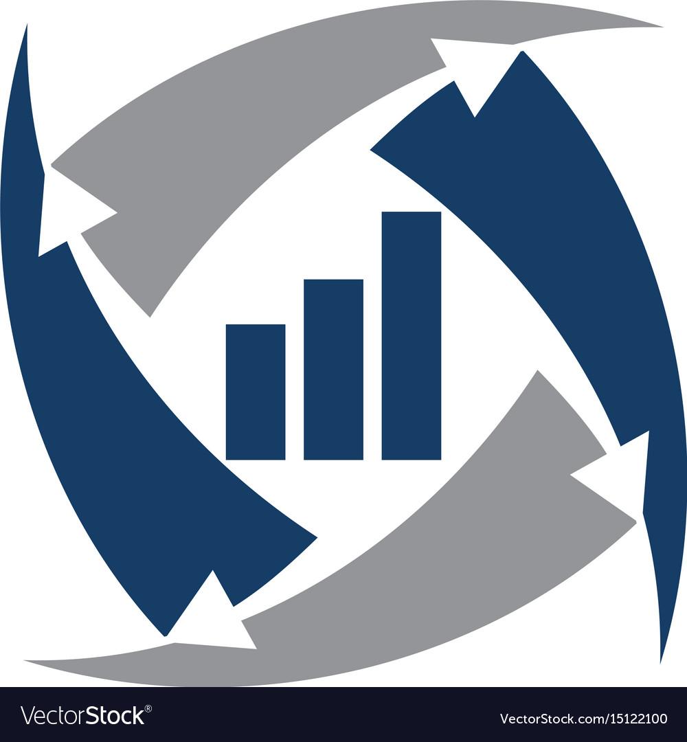 Business data transfer vector image