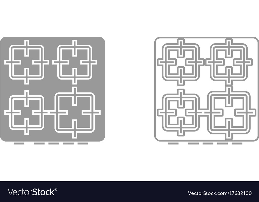 The surface of the cooker it is black icon vector image