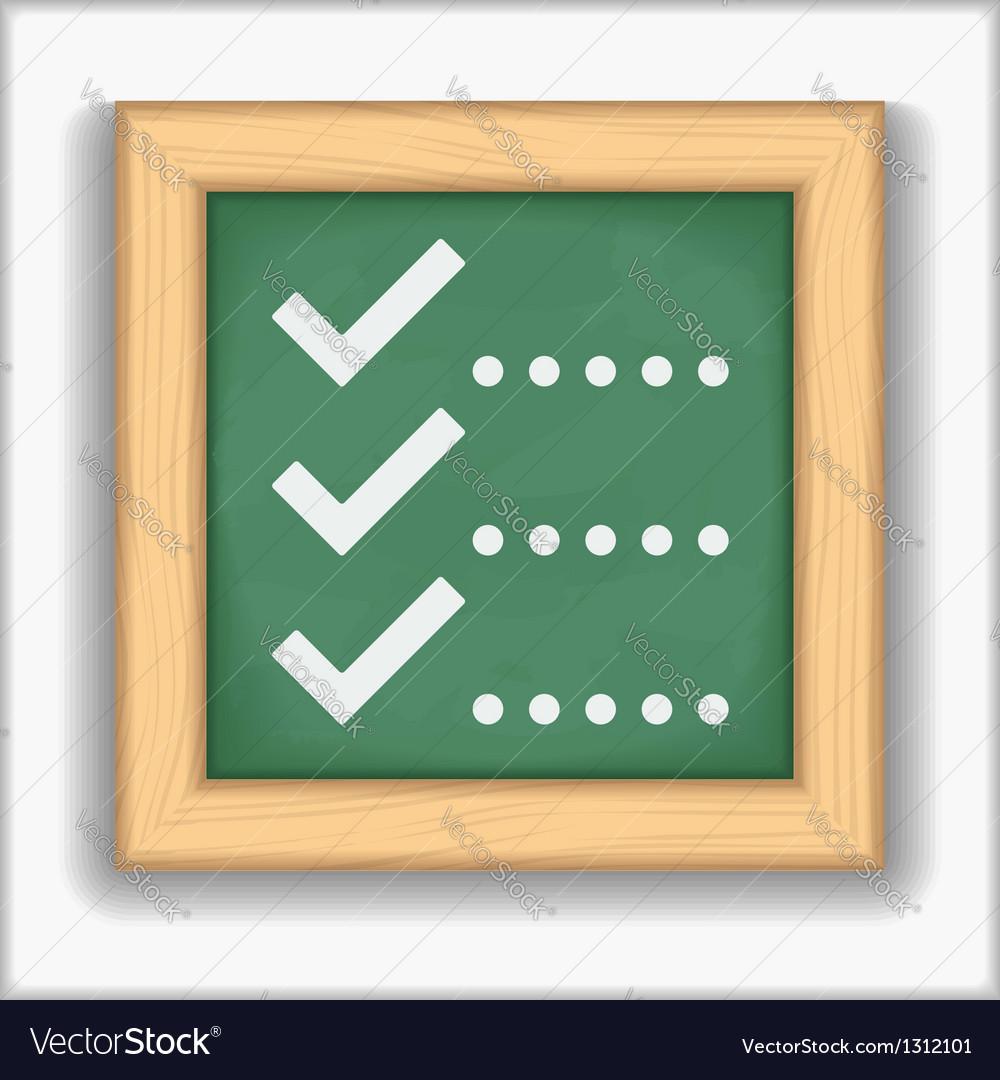 Check List Icon vector image
