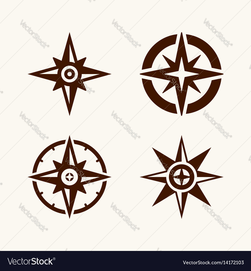 A set of compasses for the logo vector image