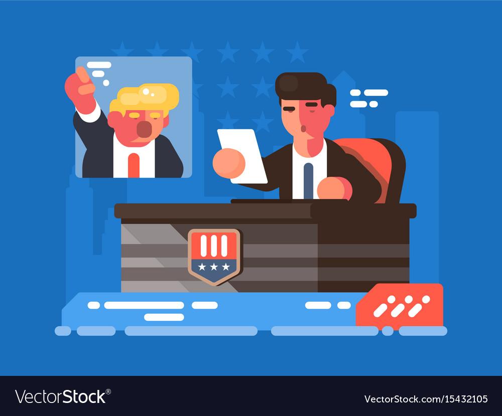 Political tv show vector image