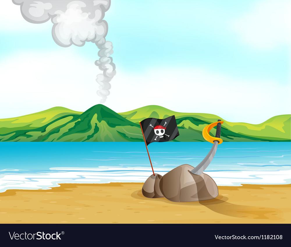 Pirates treasure Spot vector image