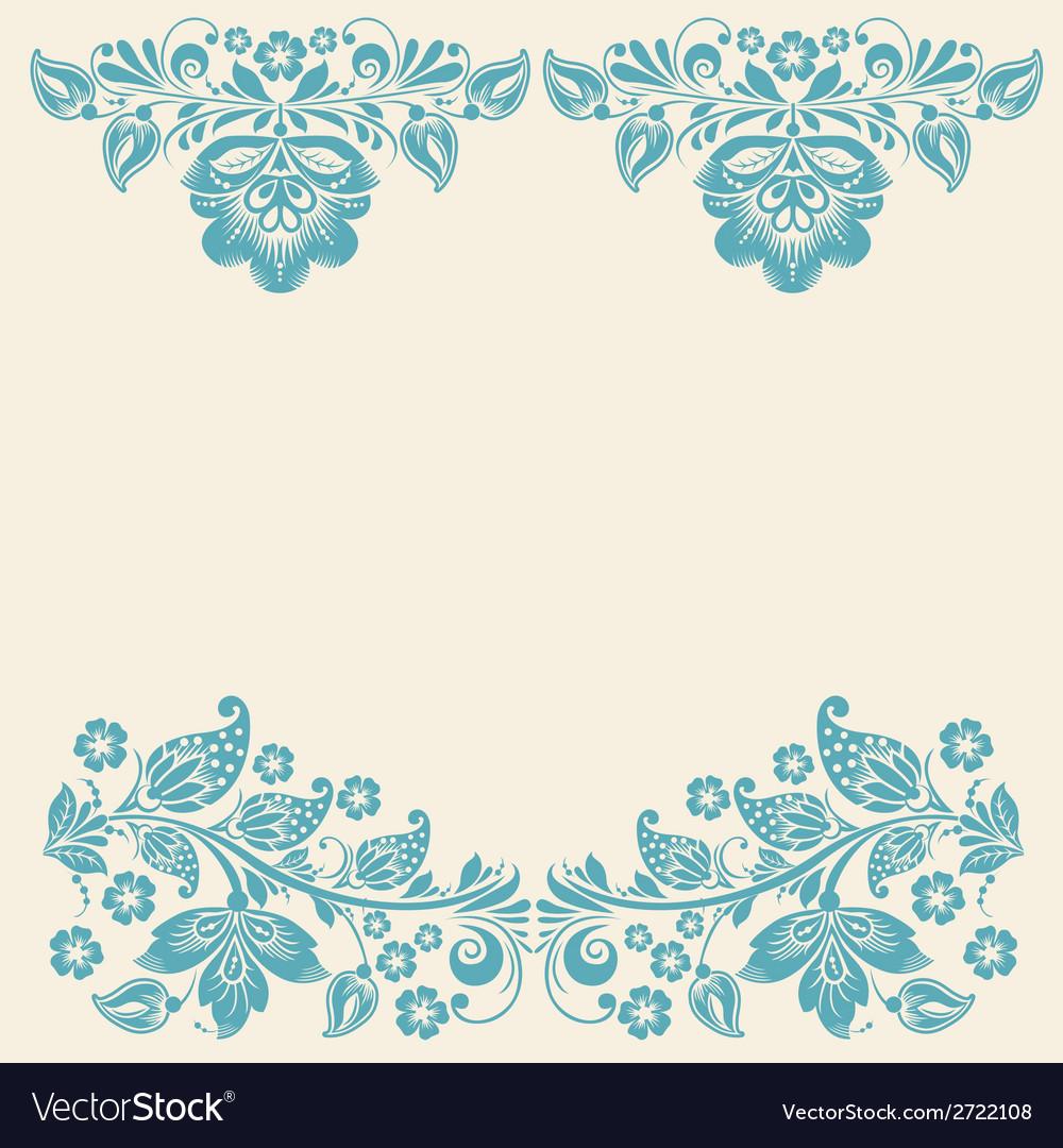Russian ornaments art frames vector image