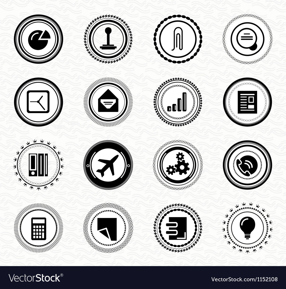 Vintage retro business labels and badges vector image