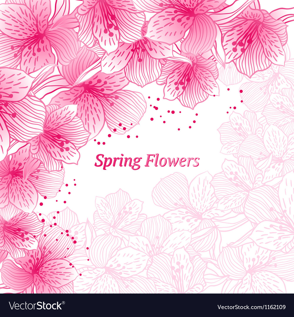 Abstract gradient seamless flower background with vector image