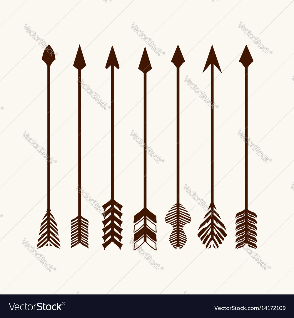 Arrows set for logo vector image