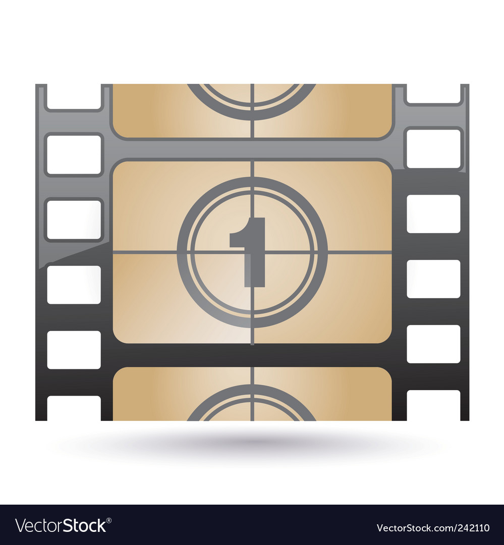 Film icon countdown Vector Image