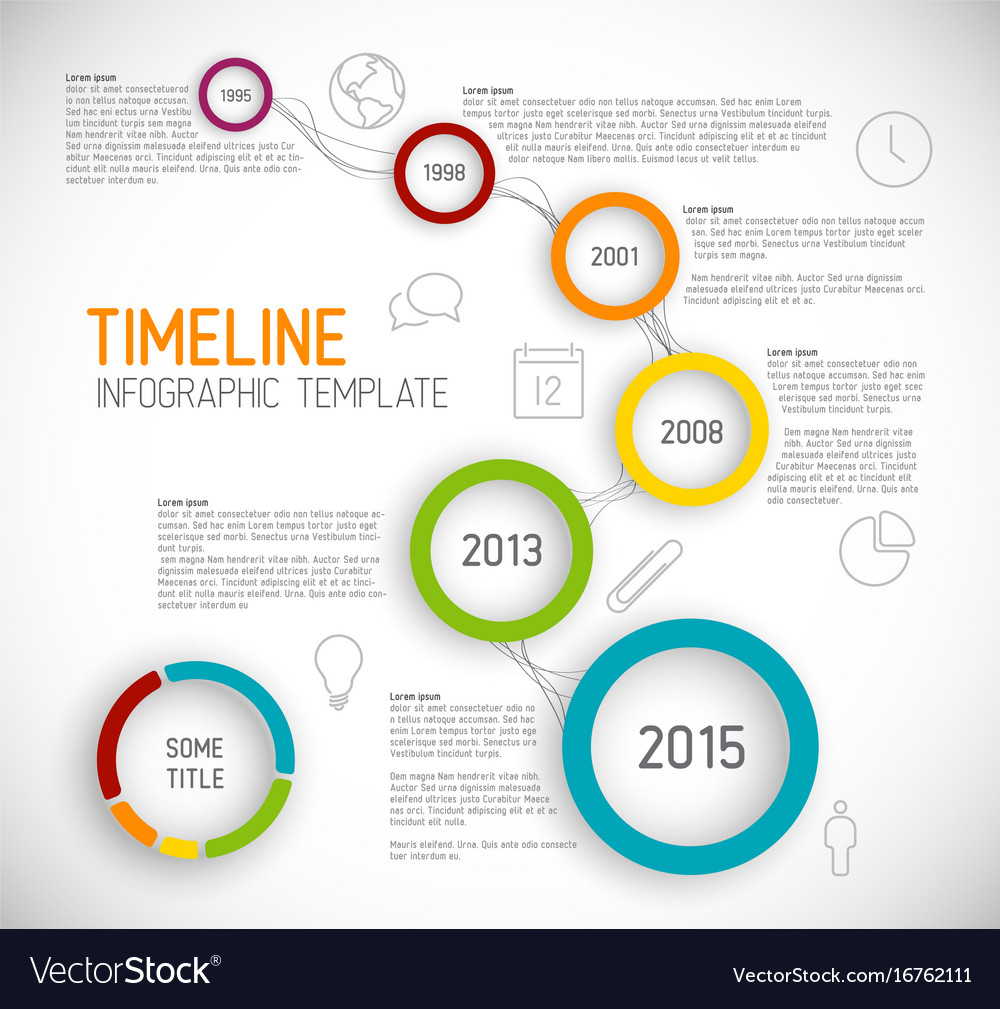 Infographic Light Timeline Report Template With Vector Image - Template timeline