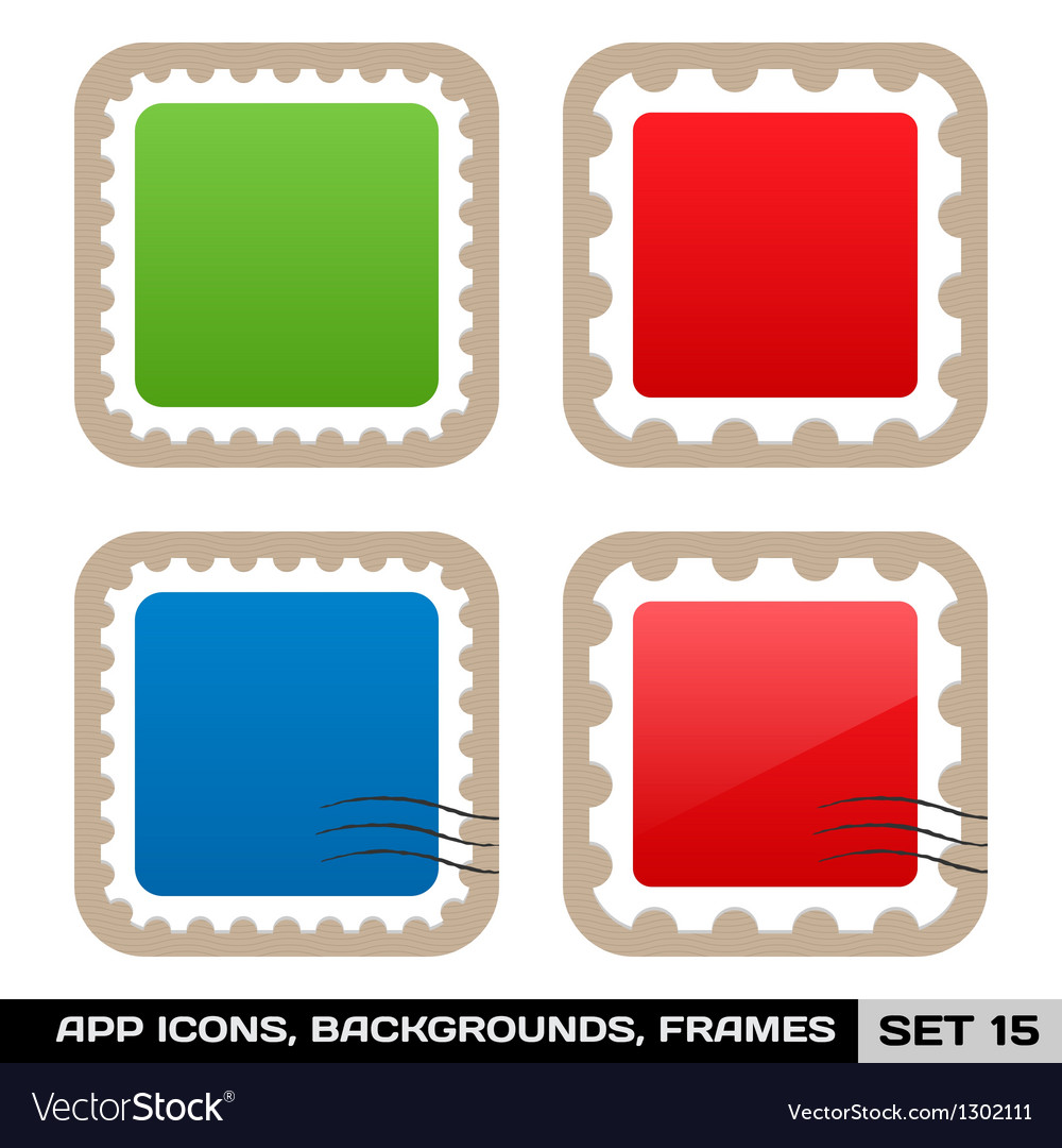 Set of colorful app icon frames templates buttons vector image jeuxipadfo Choice Image