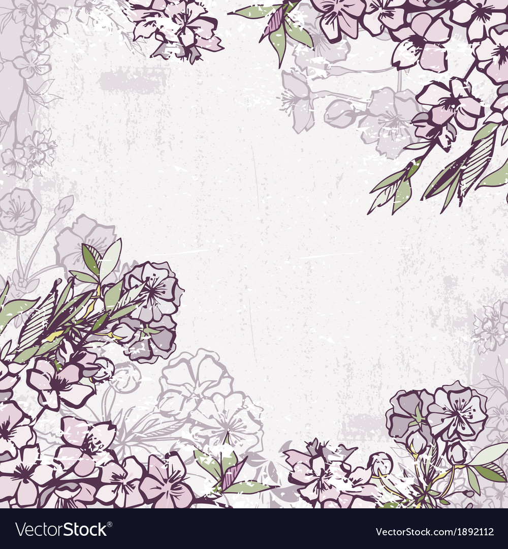 Decorative frame with blossoming cherry or sakura vector image